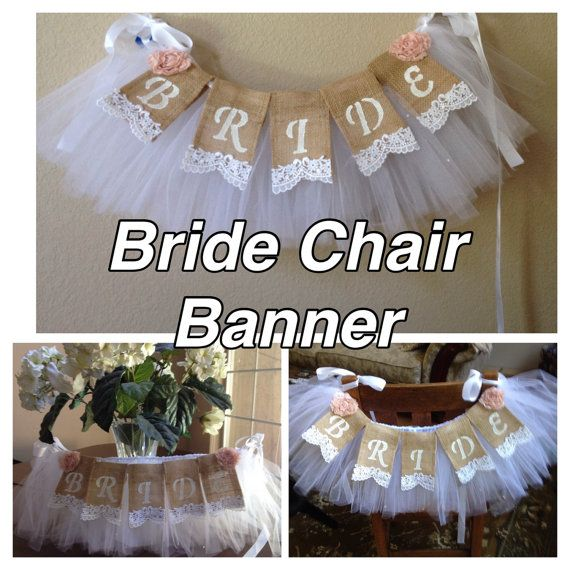 Bridal Veil Chair Garland with Bride Lace by StacyLavelleDesigns