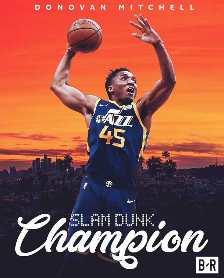 Slam dunk Champion Donovan Mitchell Utah Jazz 2017-18