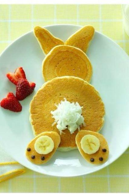 Hop to a yummy breakfast.