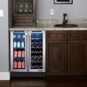 Magic Chef, Dual Zone 23.4 in. 42-Bottle 114 Can Wine and Beverage Cooler, MCWBC24DST at The Home Depot - Mobile