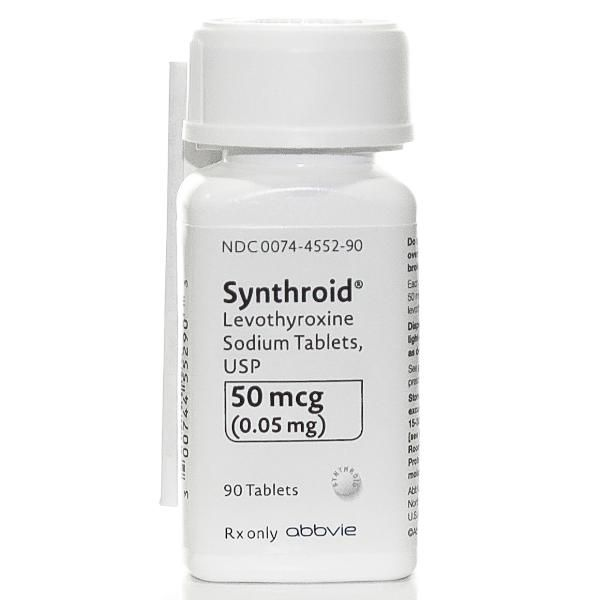Synthroid Levothyroxine Sodium Tablets 50 Mcg Levothyroxine
