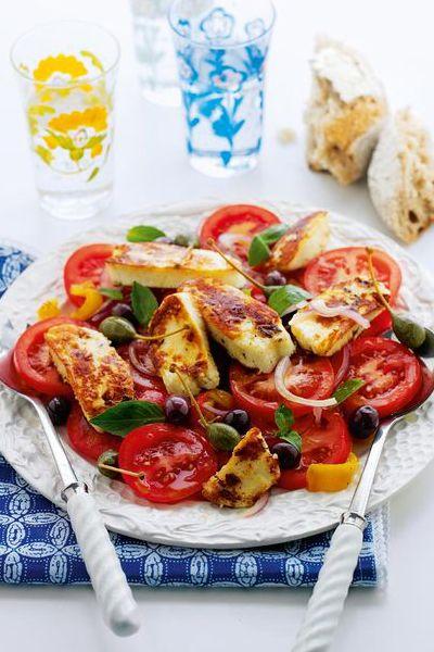 Mediterranean Halloumi Salad   Delicious