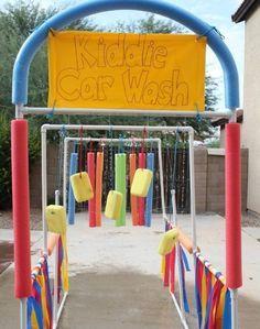 activités pour enfants en plein air: lavage de voitures