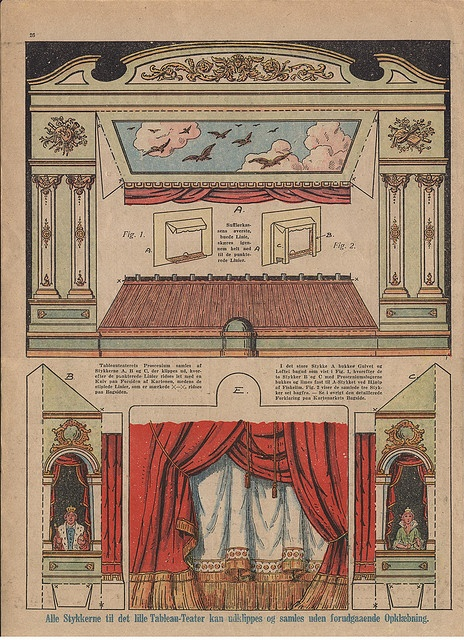 1924 French Theater Stage & curtain by pilllpat (agence eureka), via Flickr