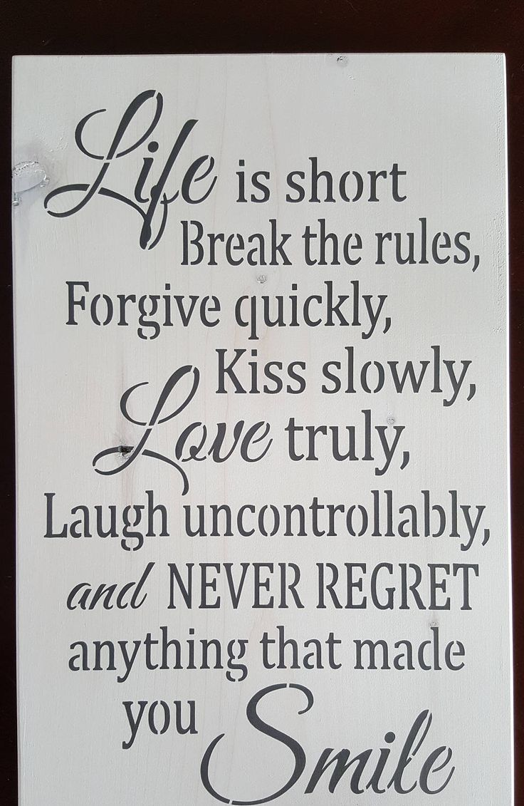 Life is short by akawoodsigns on Etsy