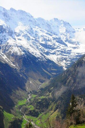 A view from Murren, Switzerland. Dope...