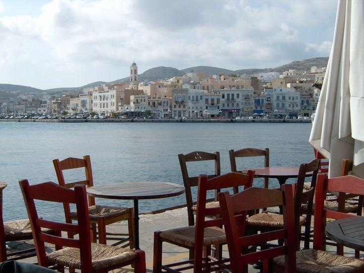Harbour side, Ermoupolis, Syros. #syros