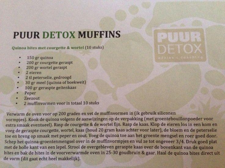 Hartige muffins met courgette, wortel en guinoa