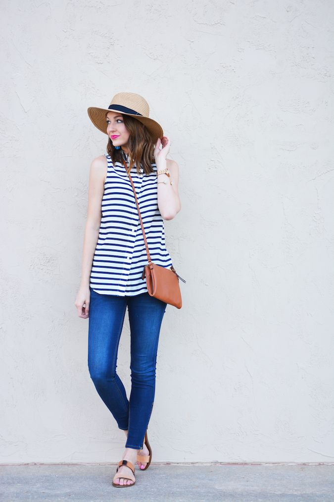 Stripes n denim, comfortable casuals #style