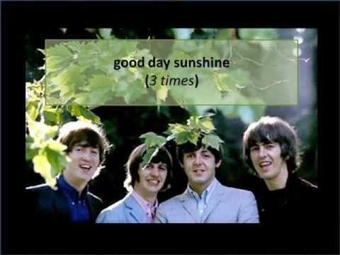 Good Day Sunshine with lyrics - YouTube