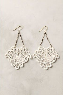 Lace earring tutorial...Vicky Gaccione you must try to make these :)!