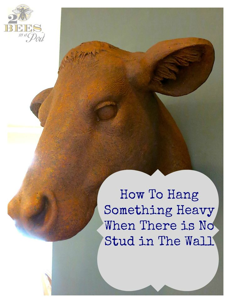 How To Hang Something Heavy When There is No Stud in The Wall