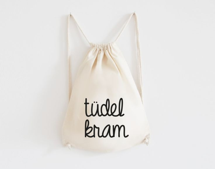 Turnbeutel mit Spruch aus Baumwolle // gym bag with quote print via DaWanda.com