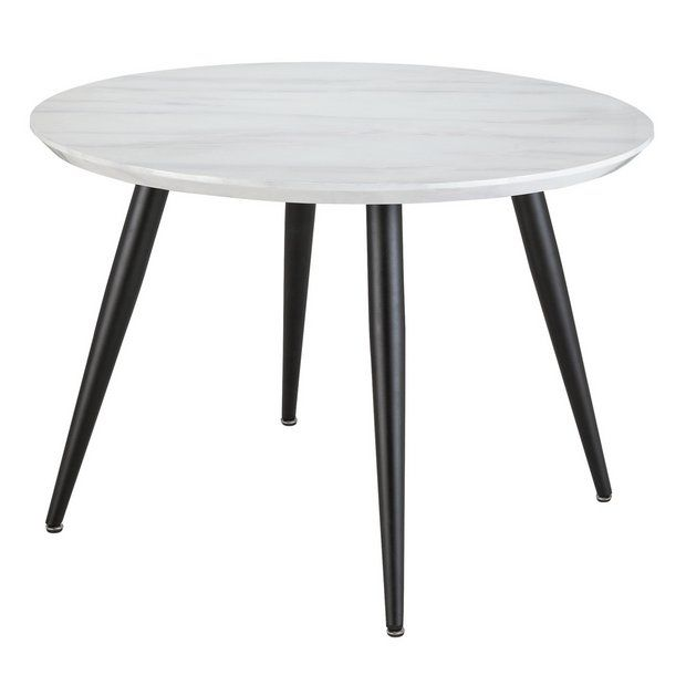 Buy Argos Home Sienna Marble Effect 4 Seater Dining Table