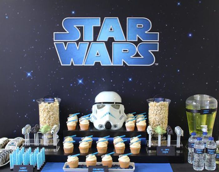Sweet Table from a Star Wars Party via Kara's Party Ideas | KarasPartyIdeas.com (2)