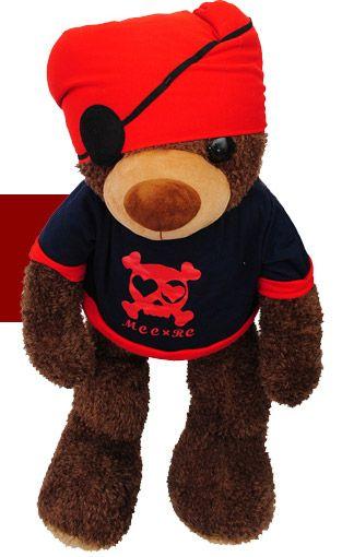 Large Teddy Bear Toy Lovers Pirate Bear Doll Birthday Giftat EVToys.com
