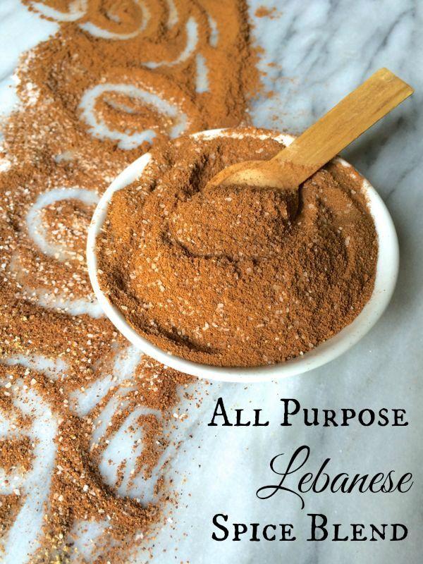 All Purpose Lebanese Spice Blend with cinnamon, nutmeg, allspice, salt, and black pepper, by The Lemon Bowl