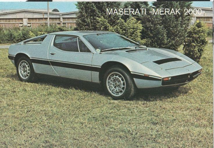MASERATI MERAK 2000 SALES BROCHURE PROSPEKT OVERVIEW SPECIFICATION SHEET 1978