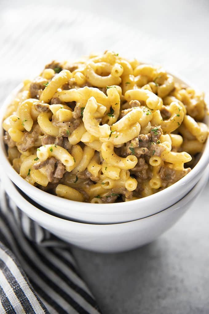 One Pot Homemade Hamburger Helper The Salty Marshmallow Recipe Homemade Hamburgers Homemade Hamburger Helper Hamburger Helper