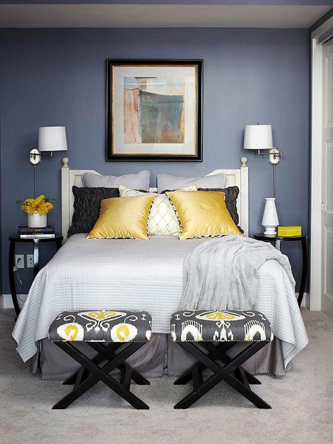 Картинки по запросу маленькая спальня темные стены дизайн фото