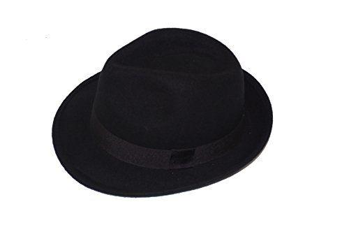 GIZZY® Unisex Black 100% Wool Felt Trilby Hat with Grosgrain Band. (58cm) GIZZY® http://www.amazon.co.uk/dp/B00RXC8STI/ref=cm_sw_r_pi_dp_Tmi3wb11QP7VF
