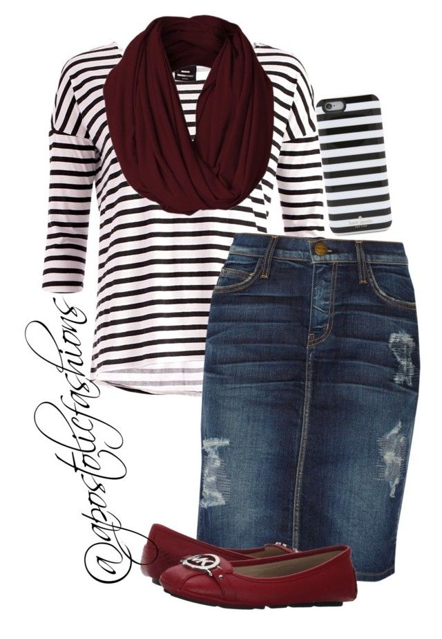 """Apostolic Fashions #1030"" by apostolicfashions on Polyvore featuring Dr. Denim, Current/Elliott, MICHAEL Michael Kors, Kate Spade, women's clothing, women's fashion, women, female, woman and misses"