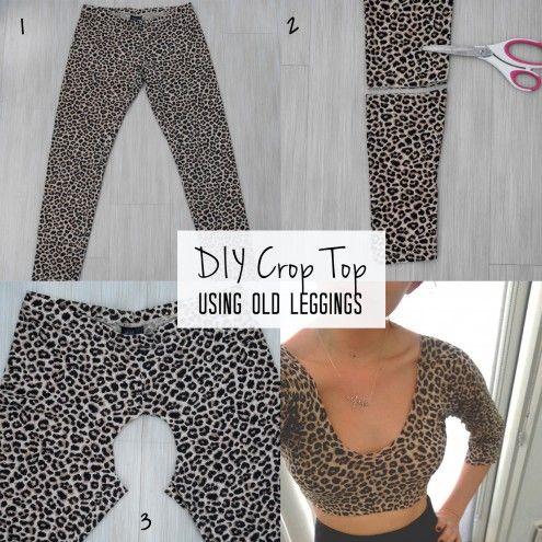 ¿Cómo hacer crop tops con leggings? - Imagen 2