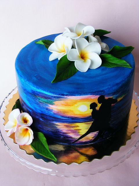 リゾート風なブルーのケーキ : カラフルで美しい!海外のスイーツまとめ - NAVER まとめ