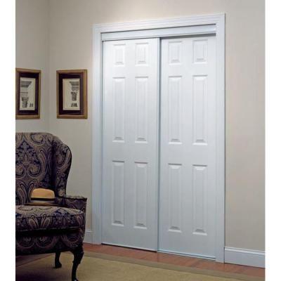 Truporte 106 Series 48 In X 80 In Composite White Sliding Door Sliding Doors Interior White Interior Sliding Doors