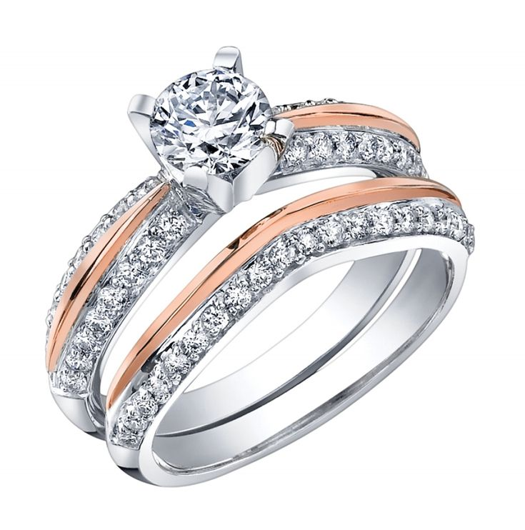 Awesome rose gold engagement ring