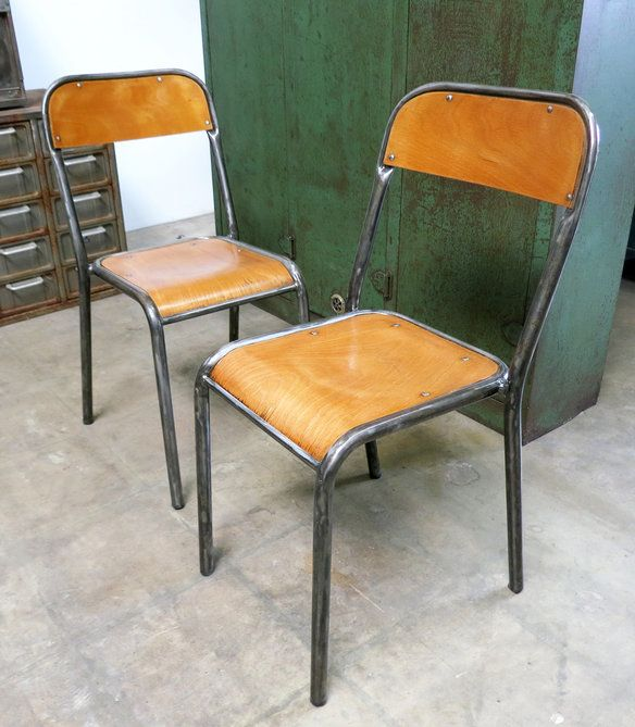 French Vintage Industrial Factory Chairs In Montebello, California ~  Apartment Therapy Classifieds