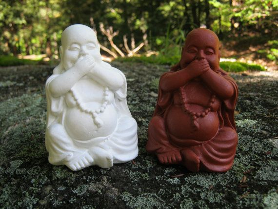 Buddha Statues Three Laughing Buddha Figures by WestWindHomeGarden