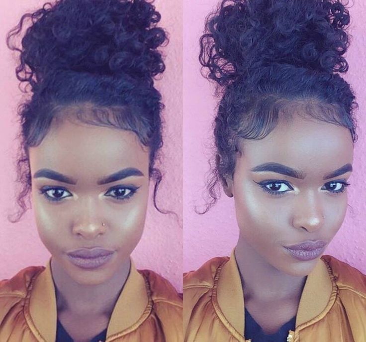 Bun Hairstyles For Curly Hair : The 25 best curly bun ideas on pinterest