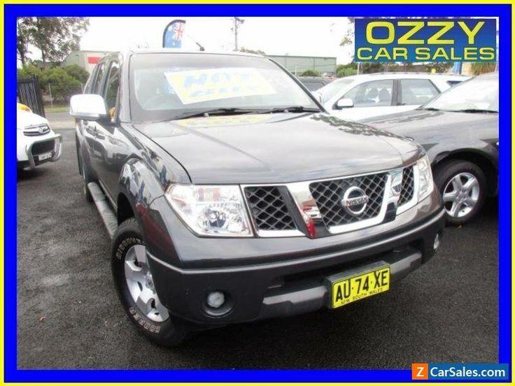 2008 Nissan Navara D40 ST-X (4x2) Grey Manual 6sp M Dual Cab Pick-up #nissan #navara #forsale #australia