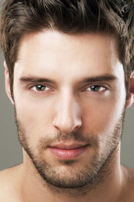 Perfect eyelashes men