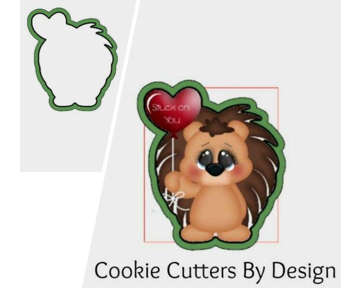 Valentine's Cookie Cutter / Hedgehog Cookie Cutter / Balloon Cookie Cutter / Love Cookie Cutter / 3D Printed Cookie Cutters / Cookie Cutters by CookieCuttersByDsgn on Etsy