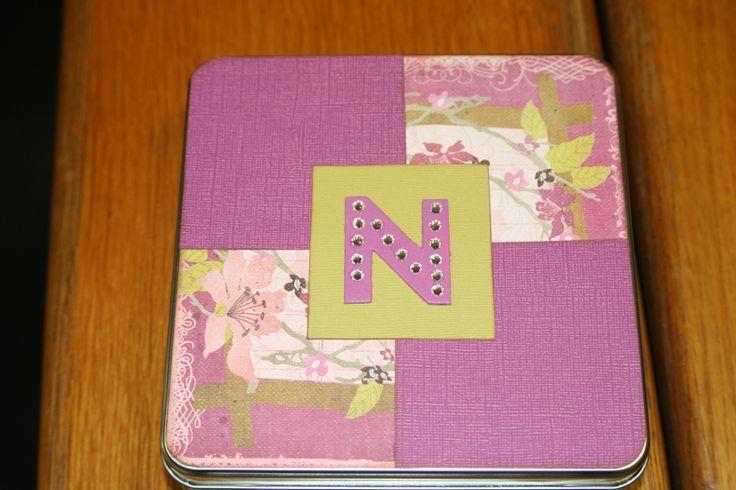 scrapbook in a tin