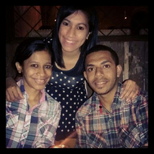 With brother and sister