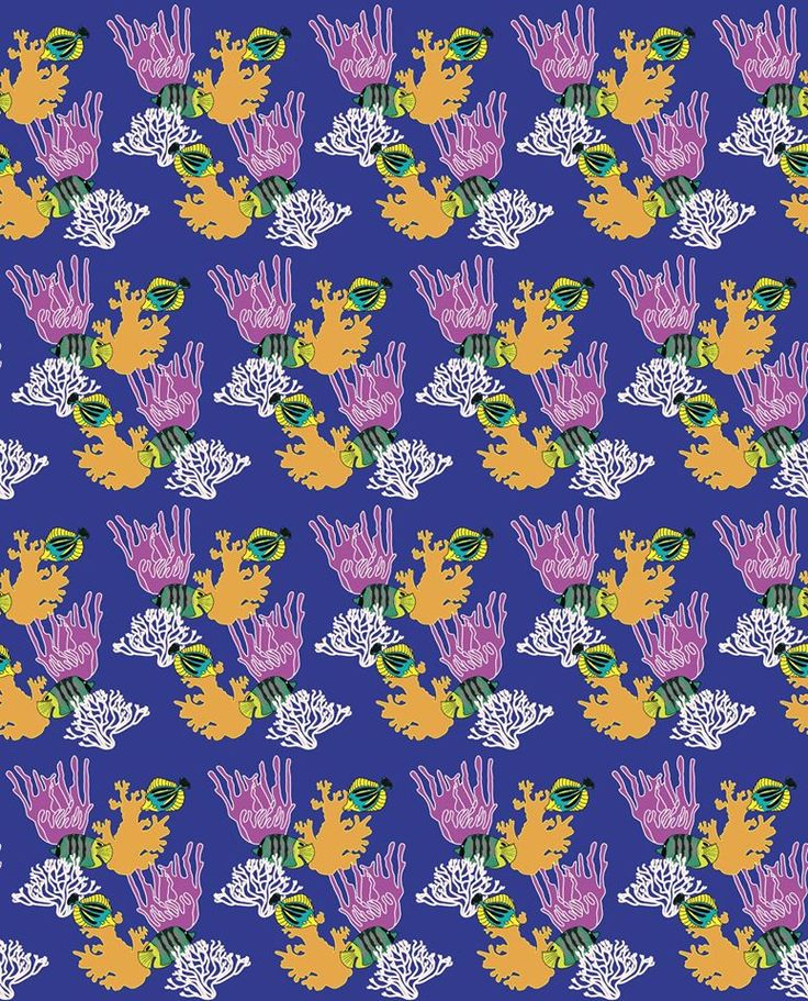 Coral and Fish pattern design