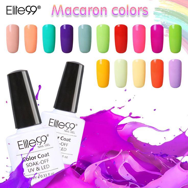 Elite99 yeni gelen 1 adet uv jel oje 20 macaron renk Vernik Cila Jel Üst Taban Gerekli Tırnak Sanat Boya 10 ml