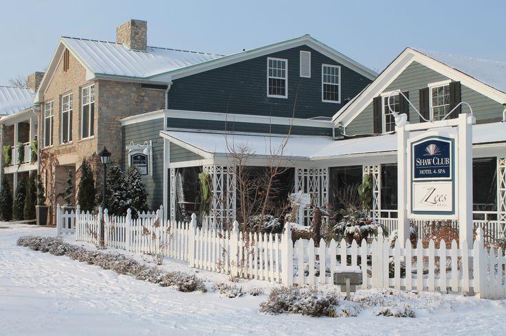 Shaw Club Hotel & Spa on a beautiful Winter's day in Niagara on the Lake.