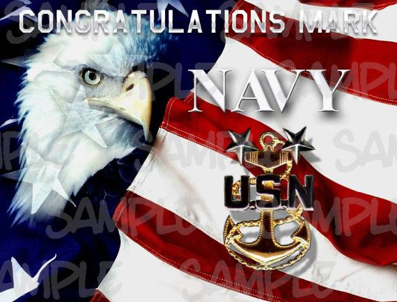 US NAVY Edible Birthday Party Cake Topper 1/4 by SavEdibleImages