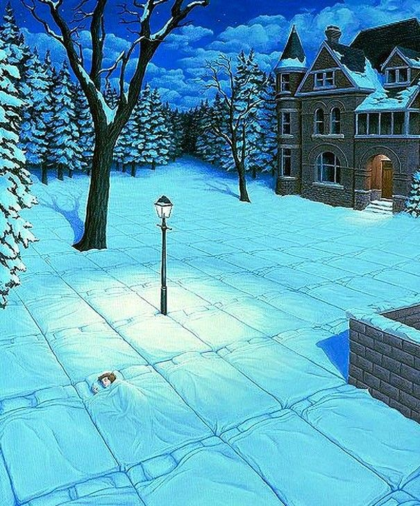 10 Most Fantastic Optical Illusion Paintings By Rob Gonsalves