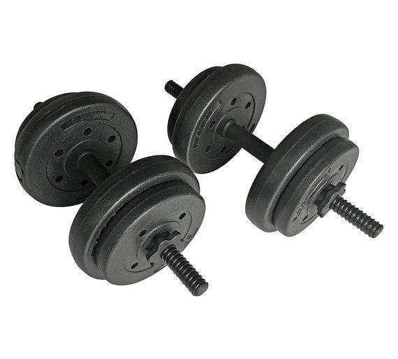 Buy Opti 15 Kg Vinyl Dumbbell Set at Argos.co.uk, visit Argos.co.uk to shop online for Weights and dumbbells, Weights, multi-gyms and strength training, Fitness equipment, Sports and leisure