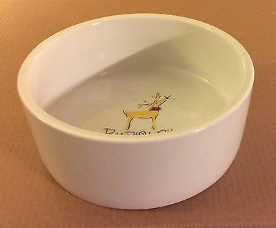 Pottery Barn Reindeer 8\  Microwaveable Rudolph Pet Dish Water Bowl UNUSED & 83 best Reindeer dinnerware images on Pinterest | Cutlery Dinner ...