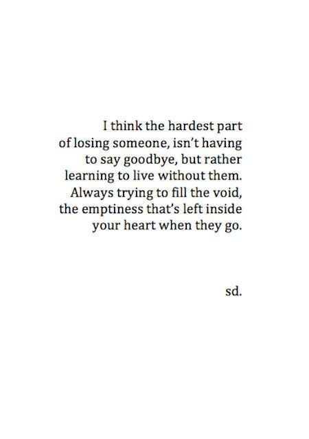 its harder to move on than to say goodbye
