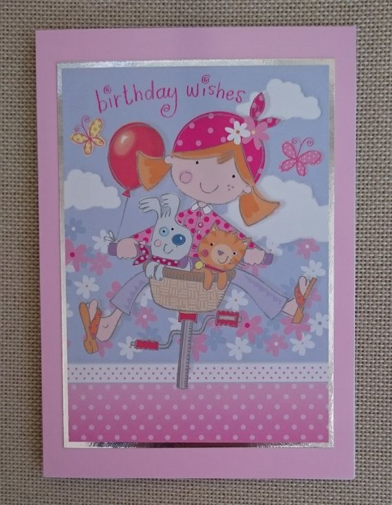 Handmade 5 x 7 Greeting Card  Birthday by BavsCrafts on Etsy