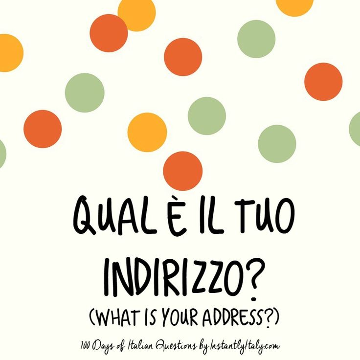 6/100 - 100 Days of Italian Questions on Instagram