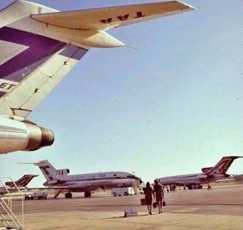 TAA Boeing 727-100s at Adelaide Airport early 60s.
