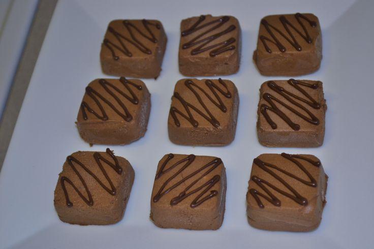Bite sized chocolate mousse